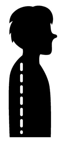 平背の姿勢になってる男性のイラスト