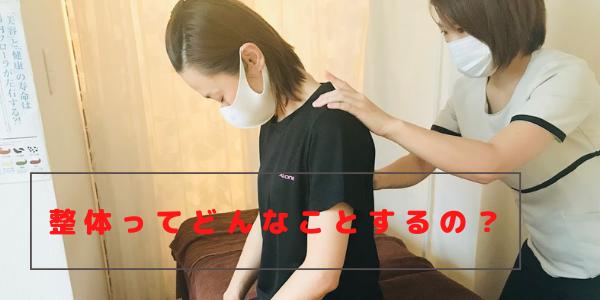 背骨のアライメントをチェックしている施術家