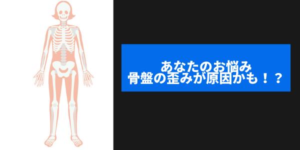 女性の骨格を表した図